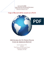 2013 Global Go to Think Tanks Report