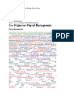 C++ Project on Payroll Management