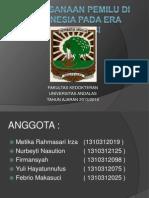 Pelaksanaan Pemilu Di Indonesia Pada Era Reformasi