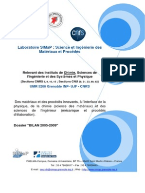 2.1 Rapport Bilan SIMAP-2005-2009 | Laboratoires ...