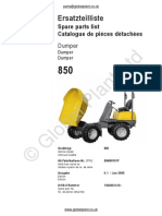 Lifton Neuson Wacker 850 Dumper Parts BOOK