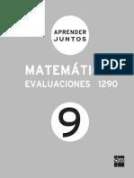 Aprender Juntos Matematicas 9 Evaluaciones