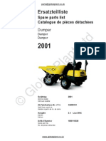 Lifton Neuson Wacker 2001 Dumper Parts BOOK