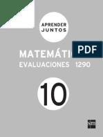 Aprender Juntos Matematicas 10 Evaluaciones