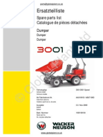 Lifton Neuson Wacker 3001 Dumper Parts BOOK