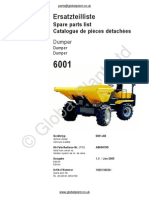Lifton Neuson Wacker 6001 Dumper Parts BOOK