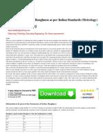 Assessment of Surface Ro...n Standards (Metrology)