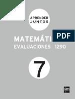 Aprender Juntos Matematicas 11 Evaluaciones