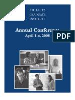 2008 PGI Annual Conference Brochure
