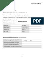 Application Form Sap p2p Consultant 1
