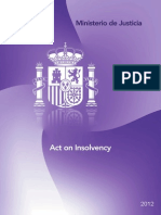 Act on Insolvency (Ley Concursal)