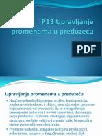 P13 UPRAVLjANjE PROMENAMA
