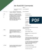 Complete AutoCAD Commands