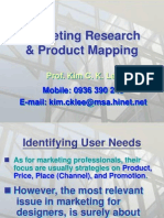 Marketing Research & Product Mapping