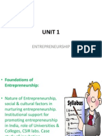 Unit 1 Entrepreneurship 3rd Sem MBA Mysore University