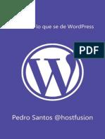 Casi Todo Lo Que Se de WordPress