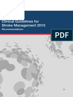 Clinical Guidelines Acute Management Recommendations 2010