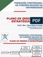 Plano de Ensino e Estrategias