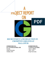 Crompton Greaves Recruitment & Selection