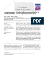 Partial Substitution of Hydrogen for Conventional Fuel in an Aircraft by Utilizing Unused Cargo Compartment Space