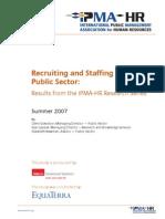 Recruitment in Public Sector
