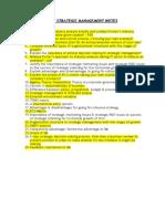 Bits Strategic Management Notes