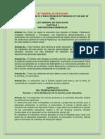 LEY GENERAL DE EDUCACIÓN.docx resumen
