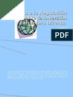 Reforma a la Regulación sobre la Inversión Extranjera