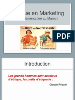 Ethique en Marketing