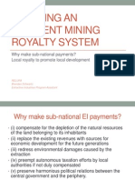 Creating an Efficient Mining Royalty System
