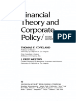 Financial Theory and Corporate Policy 3 Edition
