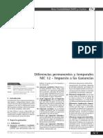 Diferencias permanentes y temporales NIC 12 - Impuesto a las ganancias.pdf