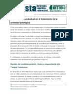 La Revolucion Conductual en El Tratamiento de La Ansiedad Patologica