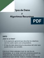Tipos de Datos y Algoritmos Recursivos