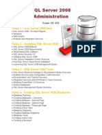SQL Server 2008 Administration Course Outline
