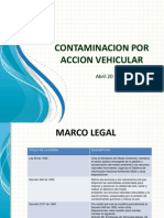 Presentacion Contaminacion Por Accion Vehicular