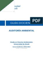 AUDITORÍA AMBIENTAL GUIA DOCENTE