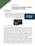 El Protagonismo de La Memoria en Colombia