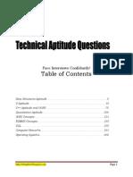 Technical Aptitude Questions eBook