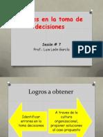 Errores en La Toma de Decisiones- Practica 7