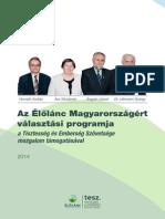 Élőlánc Magyarországért PROGRAM szórólap