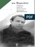 Política, Policía y Democracia_Jacques Rancière