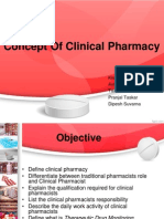 Concept of Clinical Pharmacy