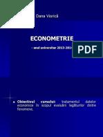 Curs Econometrie Anul II Semestrul I