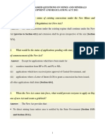 FAQs of the MMDR 2011 Bill