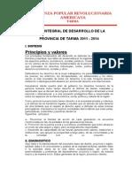 Plan Integral de Desarrollo Tarma