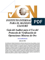 Código Internacional de Cianuro GUía.