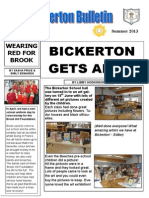 Bickerton Bulletin Summer 2013