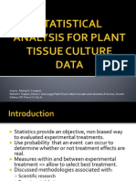 Statistical Analysis for Plant Tissue Culture Data