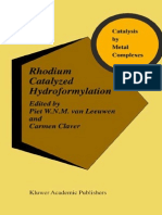 Rhodium catalyzed hydroformylation - Cover